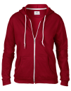 Women`s Full Zip Hooded Sweatjacket, Anvil 71600FL // A71600FL Independence Red | S