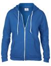 Women`s Full Zip Hooded Sweatjacket, Anvil 71600FL // A71600FL Royal Blue | S