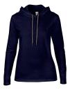 Women`s Lightweight Long Sleeve Hooded Tee, Anvil 887L // A887L Navy   S