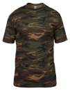 Camouflage Tee, Anvil 939 // A939 Green Camouflage   S