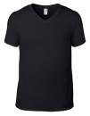 Lightweight V-Neck Tee, Anvil 982 // A982 Black | S