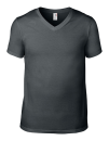 Lightweight V-Neck Tee, Anvil 982 // A982 Charcoal (Solid) | S