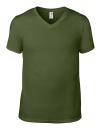 Lightweight V-Neck Tee, Anvil 982 // A982 City Green | S