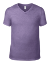 Lightweight V-Neck Tee, Anvil 982 // A982 Heather Purple | S