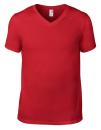 Lightweight V-Neck Tee, Anvil 982 // A982 Red | S