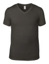 Lightweight V-Neck Tee, Anvil 982 // A982 Smoke (Solid) | S