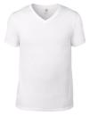 Lightweight V-Neck Tee, Anvil 982 // A982 White | S