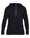 Lightweight Long Sleeve Hooded Tee, Anvil 987 // A987 Black   S