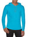 Lightweight Long Sleeve Hooded Tee, Anvil 987 // A987 Caribbean Blue   S