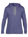 Lightweight Long Sleeve Hooded Tee, Anvil 987 // A987 Heather Blue   S