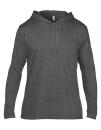 Lightweight Long Sleeve Hooded Tee, Anvil 987 // A987 Heather Dark Grey   S