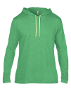 Lightweight Long Sleeve Hooded Tee, Anvil 987 // A987 Heather Green   S