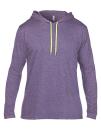 Lightweight Long Sleeve Hooded Tee, Anvil 987 // A987 Heather Purple   S