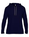 Lightweight Long Sleeve Hooded Tee, Anvil 987 // A987 Navy   S