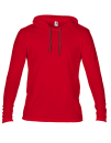 Lightweight Long Sleeve Hooded Tee, Anvil 987 // A987 Red   S