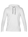 Lightweight Long Sleeve Hooded Tee, Anvil 987 // A987 White   S
