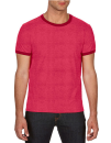 Lightweight Ringer Tee, Anvil 988 // A988 Heather Red / Red | S