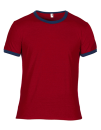Lightweight Ringer Tee, Anvil 988 // A988 Independence Red / Navy | S