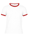 Lightweight Ringer Tee, Anvil 988 // A988 White / Red | S