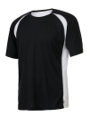Unisex Colorblock Short Sleeve Tee, All Sport M1004 // ALM1004 Black / White / Grey (Solid) | S
