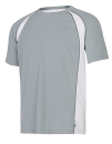 Unisex Colorblock Short Sleeve Tee, All Sport M1004 // ALM1004 Grey (Solid) / White / Slate | S