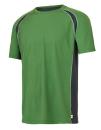 Unisex Colorblock Short Sleeve Tee, All Sport M1004 // ALM1004 Leaf / Slate / Grey (Solid) | S