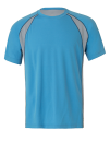 Unisex Colorblock Short Sleeve Tee, All Sport M1004 // ALM1004 Pacific / Grey (Solid) / Sport Dark Navy | S