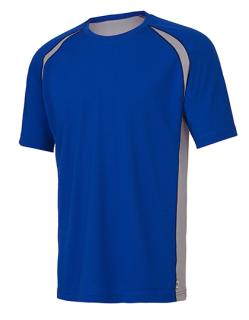 Unisex Colorblock Short Sleeve Tee, All Sport M1004 // ALM1004