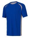 Unisex Colorblock Short Sleeve Tee, All Sport M1004 // ALM1004 Royal / Grey (Solid) / Sport Dark Navy | S