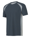Unisex Colorblock Short Sleeve Tee, All Sport M1004 // ALM1004 Slate / Grey (Solid) / White | S