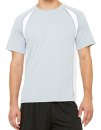 Unisex Colorblock Short Sleeve Tee, All Sport M1004 // ALM1004 White / Grey (Solid) / Slate | S