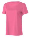 Women`s Performance Short Sleeve Tee, All Sport W1009 // ALW1009 Sport Charity Pink | XS