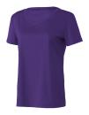 Women`s Performance Short Sleeve Tee, All Sport W1009 // ALW1009 Sport Purple | XS