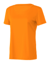 Women`s Performance Short Sleeve Tee, All Sport W1009 // ALW1009 Sport Safety Orange | XS