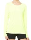 Women`s Performance Long Sleeve Tee, All Sport W3009 // ALW3009 Sport Safety Yellow | XS