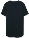 Unisex Thick Knit Baseball Jersey, American Apparel 1403W // AM1403 Black   XS