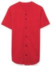 Unisex Thick Knit Baseball Jersey, American Apparel 1403W // AM1403 Red   XS