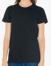 Women`s Fine Jersey T-Shirt, American Apparel 2102W // AM2102 Black | S