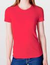 Women`s Fine Jersey T-Shirt, American Apparel 2102W // AM2102 Red | S