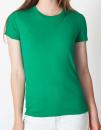 Women`s Fine Jersey T-Shirt, American Apparel 2102W // AM2102 Kelly Green | S