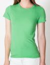 Women`s Fine Jersey T-Shirt, American Apparel 2102W // AM2102 Grass | S