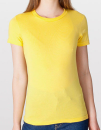 Women`s Fine Jersey T-Shirt, American Apparel 2102W // AM2102 Sunshine | S