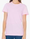 Women`s Fine Jersey T-Shirt, American Apparel 2102W // AM2102 Pink | S