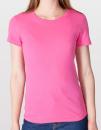 Women`s Fine Jersey T-Shirt, American Apparel 2102W // AM2102 Fuchsia | S