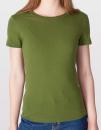 Women`s Fine Jersey T-Shirt, American Apparel 2102W // AM2102 Olive | S