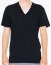Unisex Fine Jersey V-Neck T-Shirt, American Apparel 2456W // AM2456 Black   XS