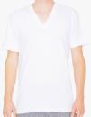 Unisex Fine Jersey V-Neck T-Shirt, American Apparel 2456W // AM2456 White   XS