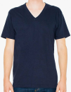 Unisex Fine Jersey V-Neck T-Shirt, American Apparel 2456W // AM2456 Navy   XS
