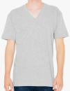 Unisex Fine Jersey V-Neck T-Shirt, American Apparel 2456W // AM2456 Heather Grey   XS