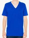 Unisex Fine Jersey V-Neck T-Shirt, American Apparel 2456W // AM2456 Lapis   XS